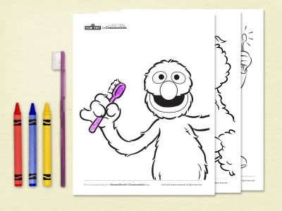 Healthy Teeth Coloring Book